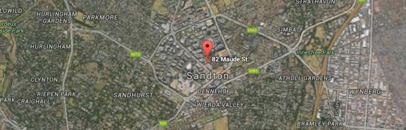 Sandton - map