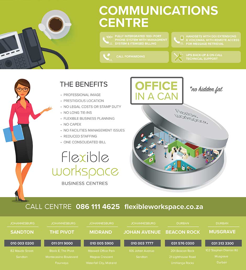 Flexible Workspace Communications Centre Infographic