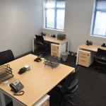 Flexible Workspace Office With 4 Desks And Accessories