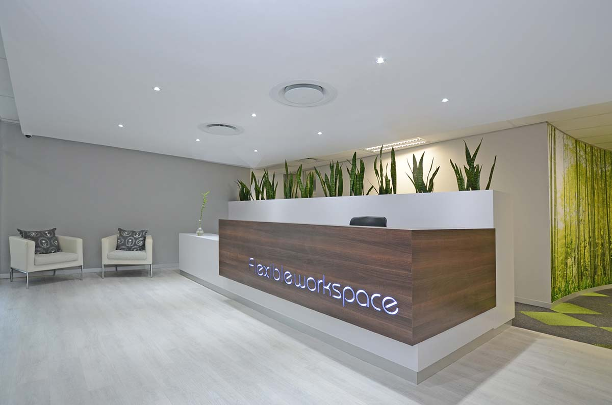 Flexible Workspace Reception Area