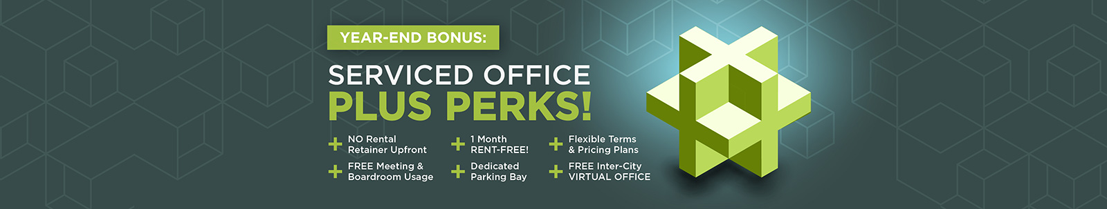 Serviced Office Plus Perks Homepage Banner